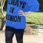 DIY Katharine Hamnett-Inspired Typography T-Shirt Dress