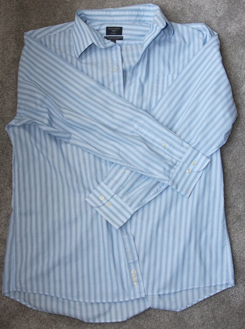DIY Dress from a Men's Shirt before photo of the shirt