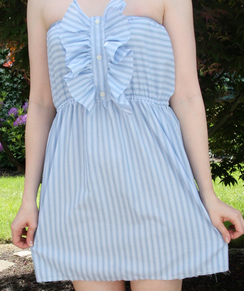 DIY Dress from a Men's Shirt after, dress full photo