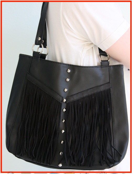 Studs fringe diy project bag handbag