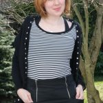 First Day of Spring Outfit & Studded Cardigan DIY