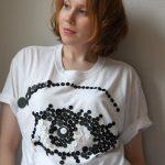 DIY Avant-Garde Artistic Button-Embellished Top