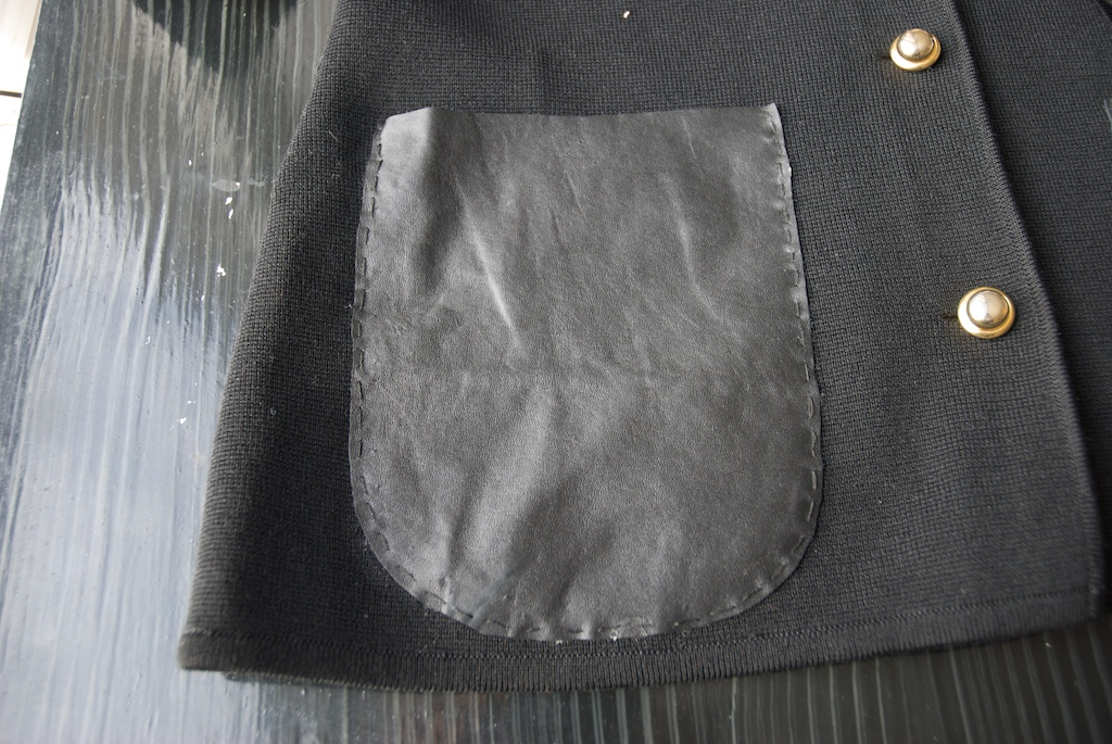 A Pair and A Spare DIY Leather Pocket Knit 14