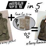 DIY in 5: Faux Fur-Lined Hood