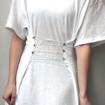 DIY: Corseted White T-Shirt or What to Do with the BF's old T-shirts #2