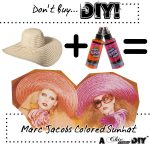 Don't Buy, D.I.Y! Marc Jacobs Colored Straw Hat