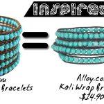Inspired Alert! Alloy.com Kali Wrap Bracelets vs. Chan Luu Wrap Bracelet