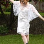 DIY 1 and 2/3 yd. Easy Lace Summer Dress