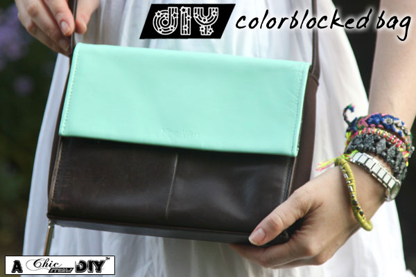 Diy Colorblock Bag A K A How To Paint Leather With Acrylic