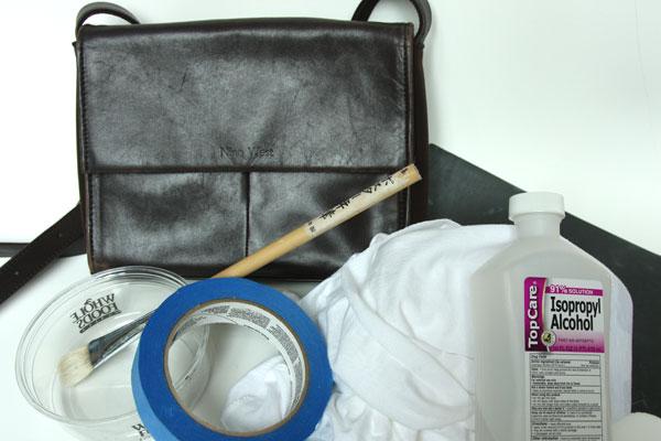 Чем убрать краску с кожаной сумки