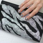 DIY Zebra Stencil Glitter Clutch