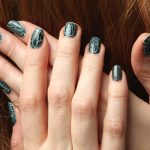 Spooky Spiderweb Nails with Crackle Nail Polish