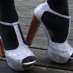 DIY Glitter Shoes for the Holidays (DIY Faux Jeffrey Campbell Litas)