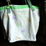 DIY Stenciled Convertible Shopping Tote/Backpack for Martha Stewart Mother's Day by Plaid