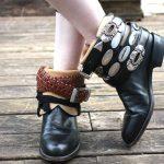 DIY Free People Luxury Jones Belt-Wrapped Vintage Cowboy Boots