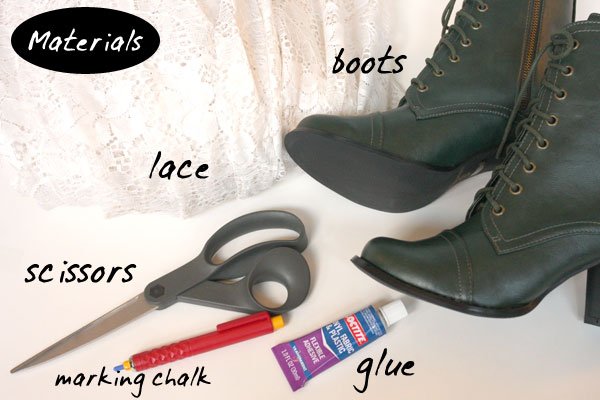 Diy Lace Covered Boots Chic Creative Life