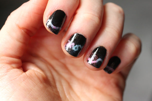 DIY Neon Sign Manicure No Airbrush Needed