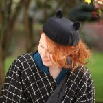 DIY: 40's-Style Cute Kitty Beret for Halloween