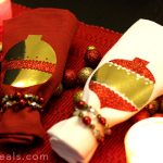 DIY Glittery Holiday Christmas Ornament Napkins with Tulip Shimmer Sheets