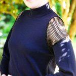 DIY Alexander Wang-Inspired Mesh Insert Sweater