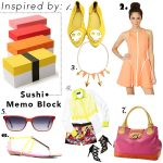 Citrus Brights Spring Wishlist Inspired By: Sushi Memo Blocks