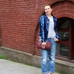 Outfit 03.07.13: The Michael Jackson Bomber + Lipstick Heels