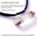 Free People Portland x Chic Steals DIY Quartz Necklace Event Recap