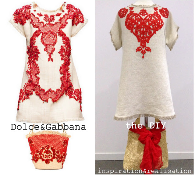 inspiration&realisation_diy_dolce_gabbana_rafia_coral_dress_summer_2013_tutorial
