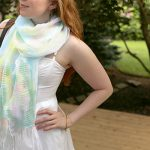 DIY Watercolor Dyed Scarf