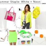 Neon + White Shopping Picks