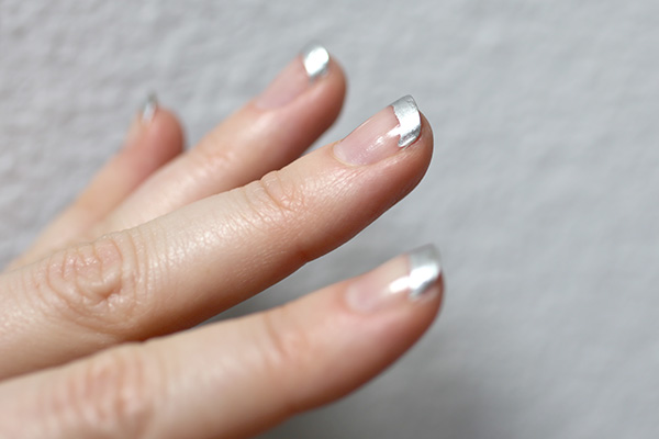 Diy Metallic Tipped Nail Art How To Extend The Life Of Any Manicure