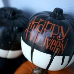 DIY Stenciled Halloween Pumpkins