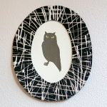 DIY Webby Frame Glow-in-the-Dark Owl Picture