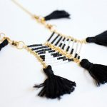 DIY Anthropologie Beaded Tassel Necklace