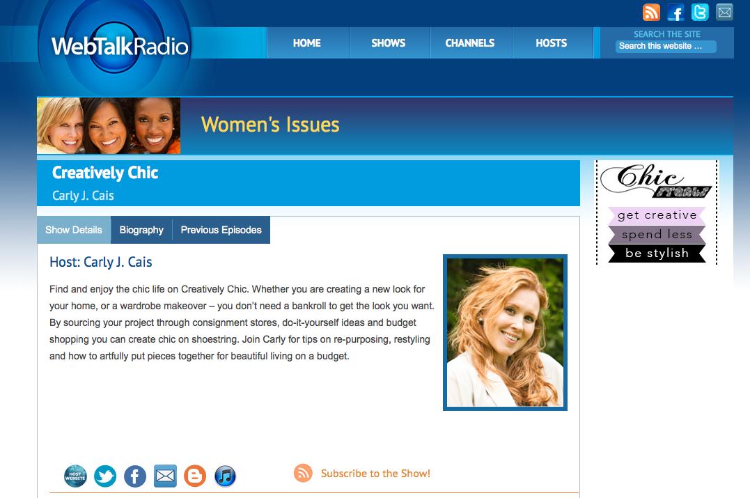 CreativelyChic_on_WebTalkRadio.net