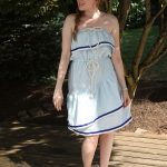 DIY Memorial Day and Labor Day Dress Made from a Sheet – Finally, the Pattern!