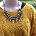 DIY Spike Beaded Woven Choker Necklace