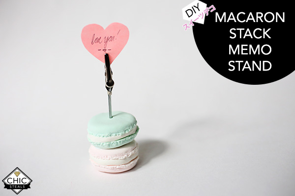 Diy Deko Sweets French Macaron Stack Card Holder Memo Stand For