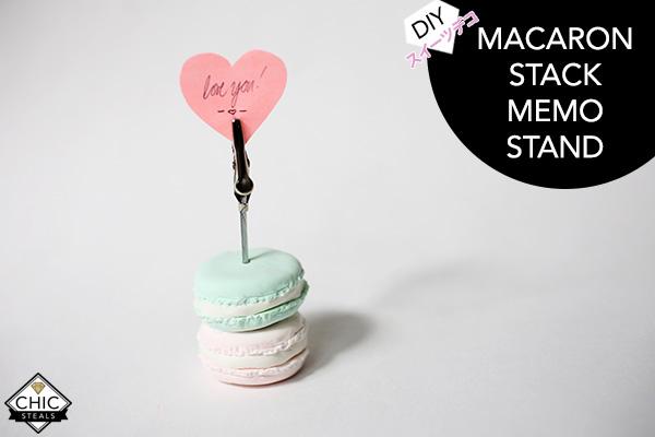 Deko Diy diy deko macaron stack card holder memo stand for