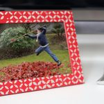 DIY Patterned Silver Leaf Photo Frame with Mod Podge Stencils