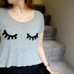 DIY Vinyl Eyelash Applique T-Shirt