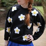 DIY Daisy-Print Applique Sweatshirt