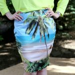 DIY Printed Bodycon Pencil Skirt From a Men's T-Shirt