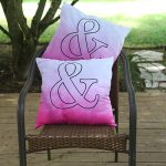DIY Outdoor Ombre Typography Pillows with Tulip Tie Dye