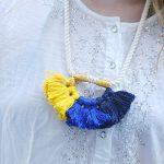 DIY Anthropologie Colorful Summer Tassel Necklace