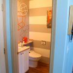 DIY Geometric Modern Bathroom Makeover