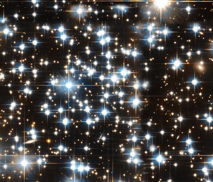 Sparkle Star Galaxy print Fabric on Spoonflower