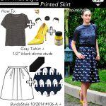 DIY That Style! Emmy Rossum's Studded Tee and Print Skirt