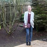 Outfit 1.03.15: Marsala Top and How to Care for Your Dark Colored Clothing