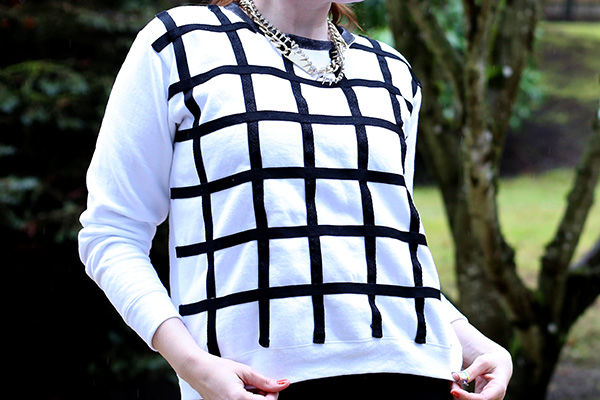 DIY Windowpane Shirt